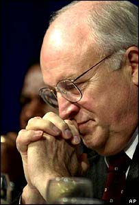 Cheney prays